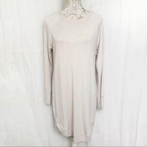 Athleta // Light Pink Mindset Sweatshirt Dress M